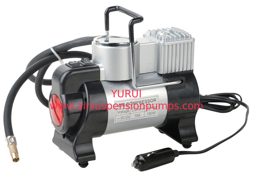 Chrome Metal Car Portable Vehicle Air Compressor 12v 100 PSI 3 In1 Function