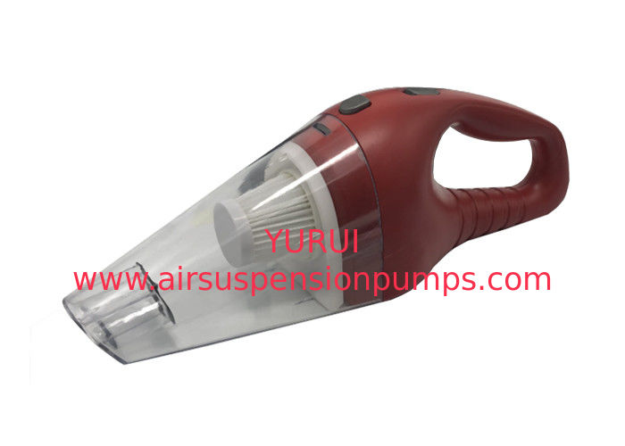 Red ABS Battery Vacuum Cleaners / Car Interior Vacuum Cleaner Two Brushes