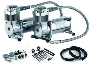 12V conjuguent compresseur d'air de réservoir d'air de 200 livres par pouce carré double de tour de compresseur en acier de suspension